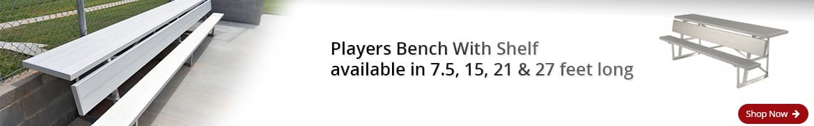 Aluminum Players Bench with Shelf