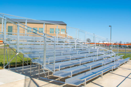 Portable 10 Row Bleacher • Seats 184
