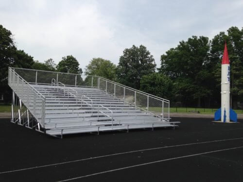 Aluminum Portable 15 Row Bleacher • Seats 154