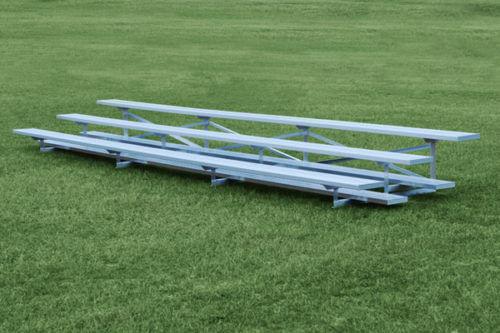 Aluminum 3 Row Bleacher Seats 30 Sightlines