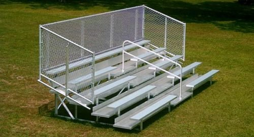 Aluminum Portable 5 Row Bleacher • Seats 54
