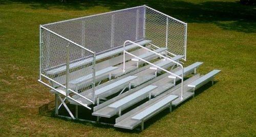 Aluminum Portable 5 Row Bleacher • Seats 54