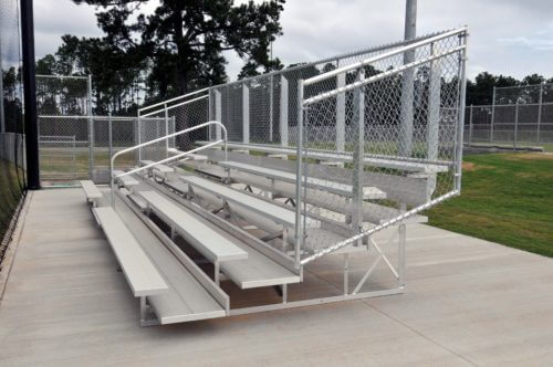 Portable 5 Row Bleacher • Seats 74