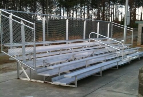 Aluminum Portable 5 Row Bleacher • Seats 94