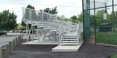Aluminum 5 Row Elevated School Bleacher • Seats 54