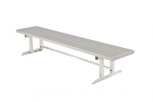 "Aluminum Double Team Bench 7' 6"" • Seats 5 a - Outdoor Bench"