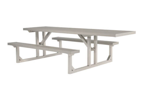 Wheelchair Picnic Table Aluminum • 8' • Seats 9