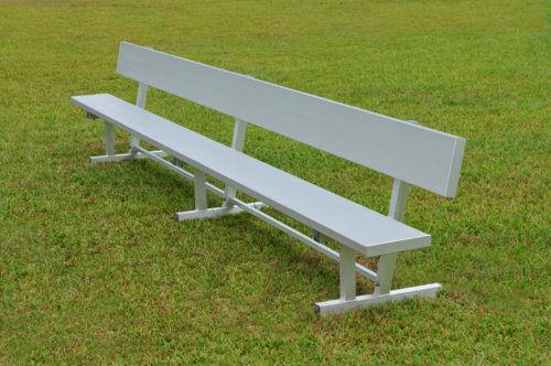 Aluminum Players Bench | Backrest 15' • Seats 10 a