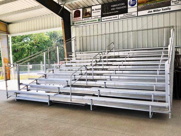Aluminum 10 Row Transportable Bleacher Seats 104
