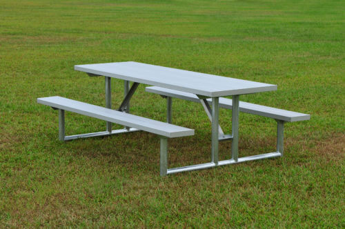 "Galvanized Picnic Table 7' 6"" • Seats 10 - Table"
