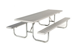 Galvanized Picnic Table 8' • Seats 10 a - Table