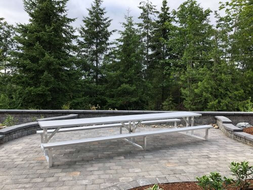 Aluminum Picnic Table 15' • Seats 20