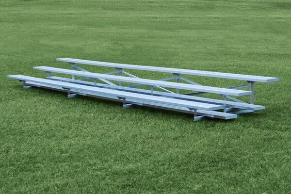 3 Row Aluminum Bleacher, 9'