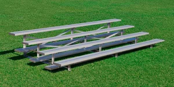 Aluminum 4 Row Bleacher • Seats 20