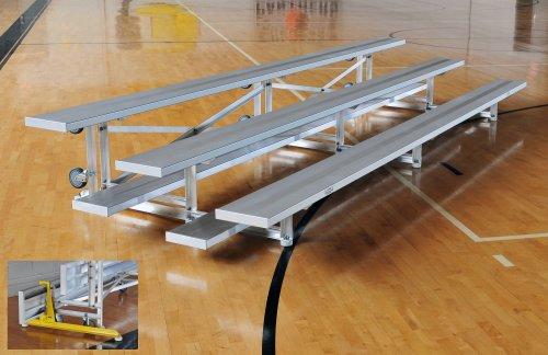 Aluminum 3 Row Tip N Roll Bleacher • Seats 18