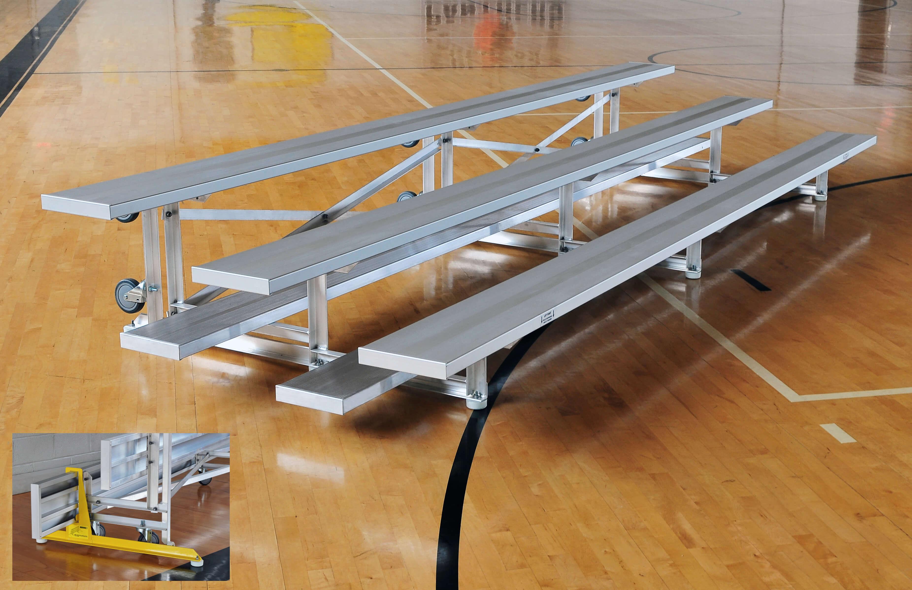 Aluminum 3 Row Tip N Roll Bleacher Seats 18 Sightlines