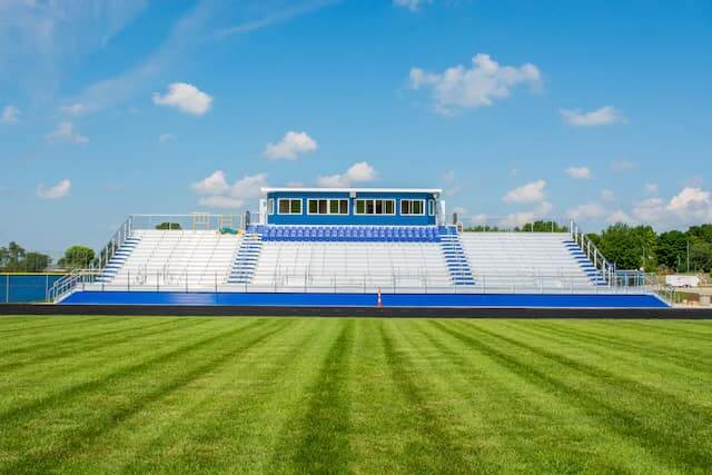Football field stadium