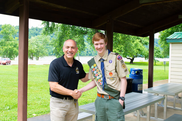 Eagle Scout Installs SAF Picnic Tables for Local Park